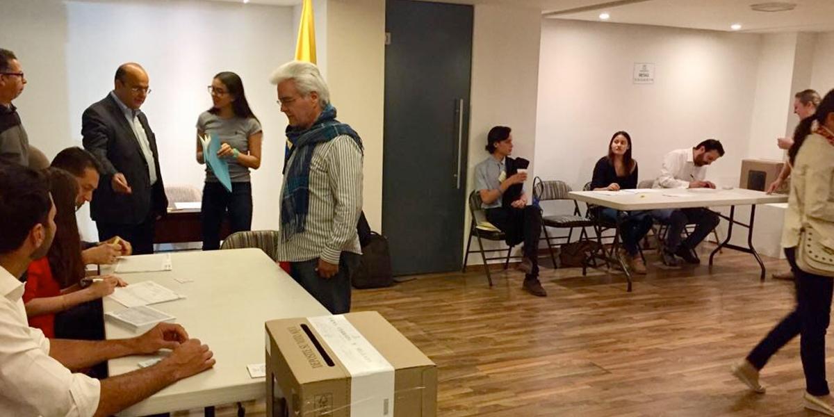 Votaciones en Consulado de Colombia en Managua, se retomarán mañana por paro en Nicaragua