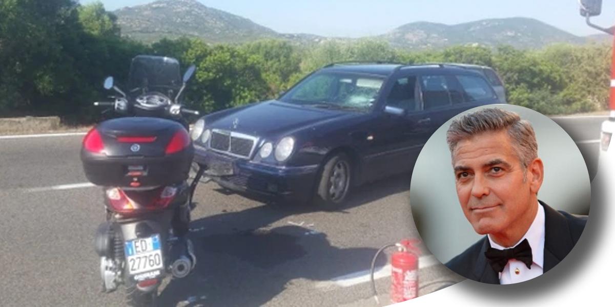 George Clooney, fuera de peligro tras accidente de tránsito en Italia