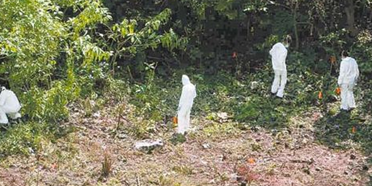 Avanzan labores de identificación de dos cuerpos hallados en zona de incidencia de 'Guacho'
