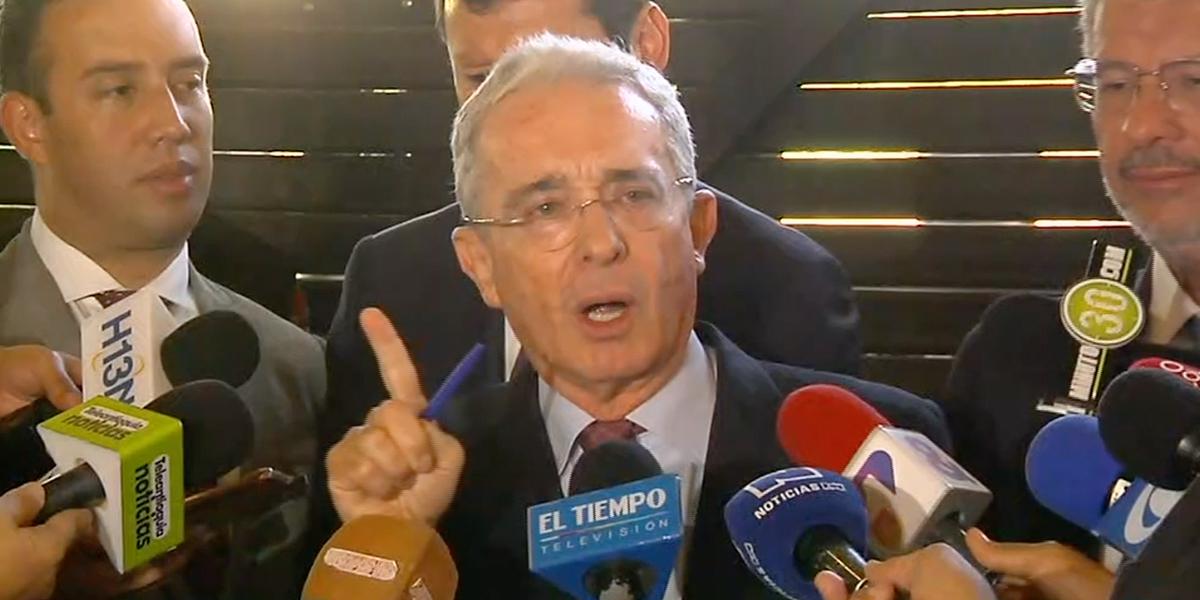 Uribe respondió sobre proceso en la Corte Suprema de Justicia