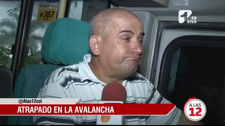 Impresionante relato del conductor que quedó atrapado durante la avalancha en San Gil