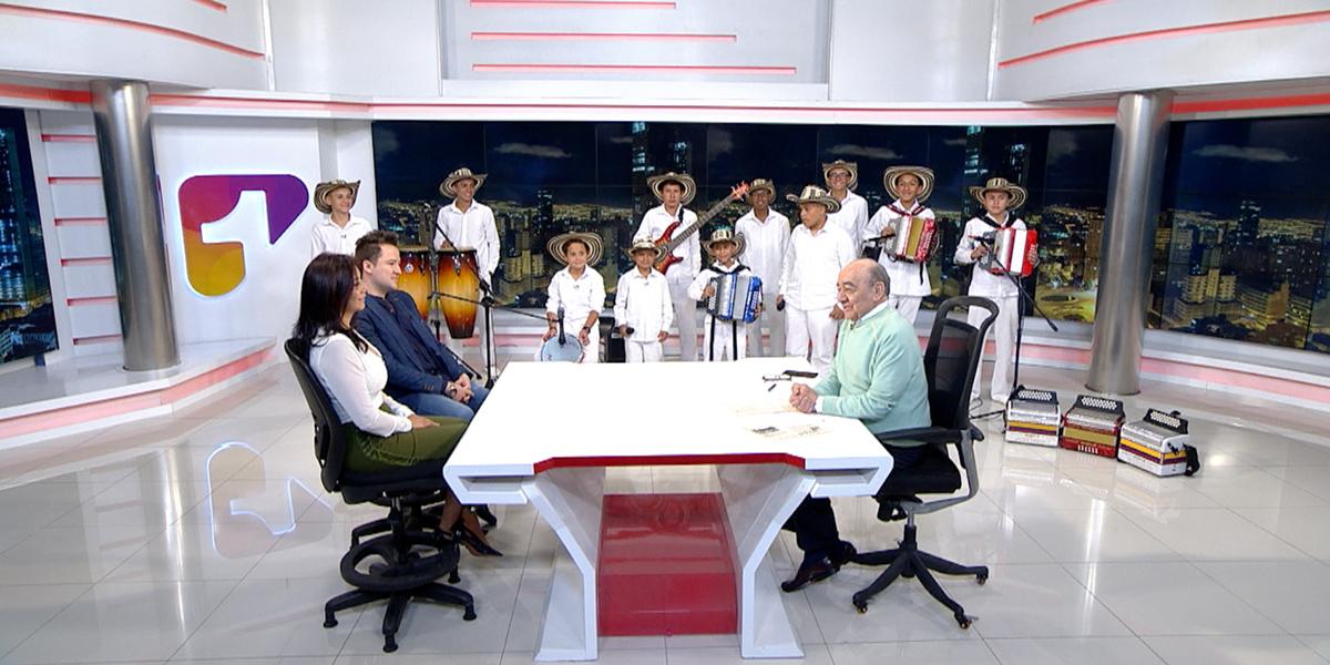 El grupo infantil y juvenil Nuestra Tierra Colombia Vallenata