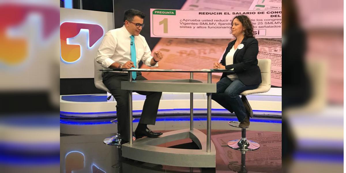 La senadora Angélica Lozano habló de la consulta anticorrupción