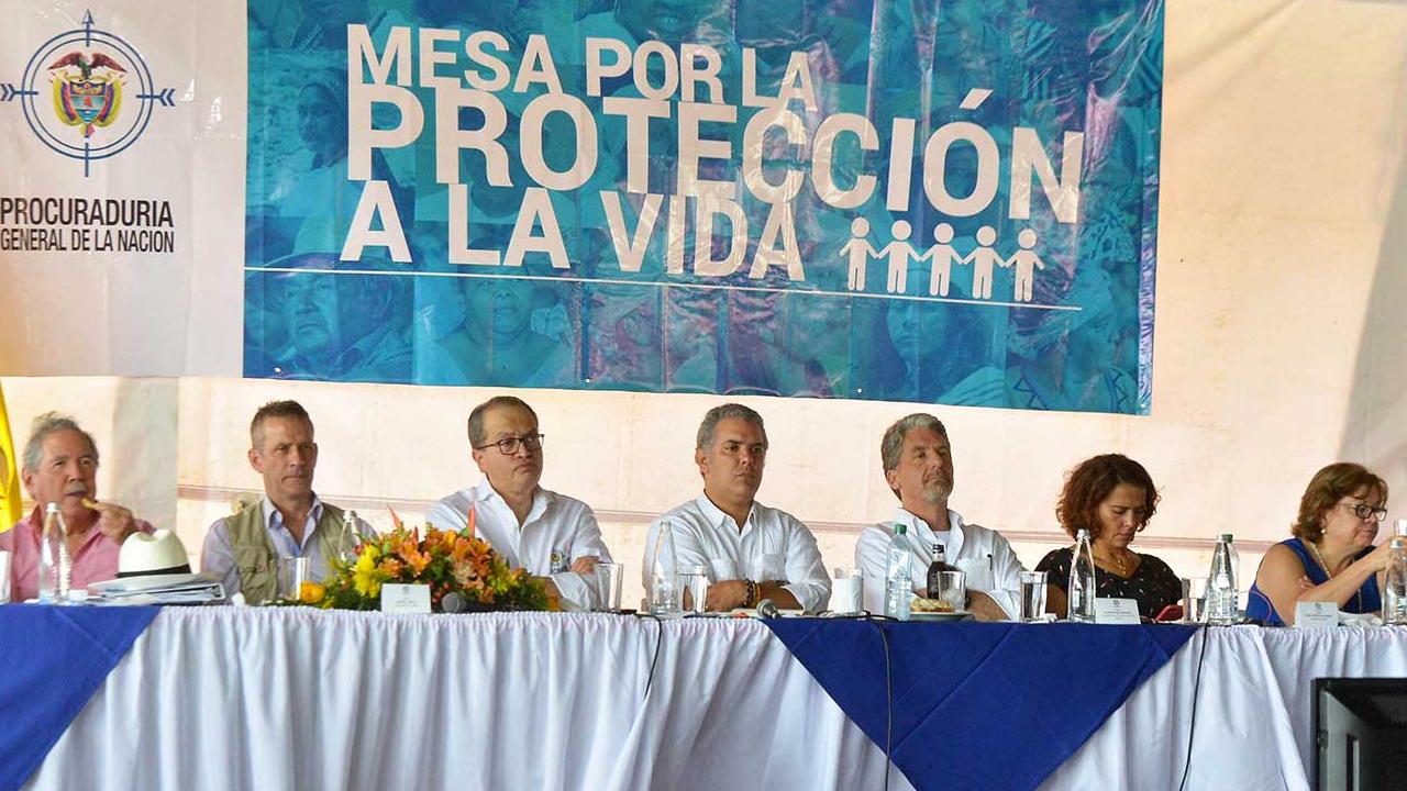 Presidente Iván Duque firma acuerdo para la protección de la vida de líderes del país