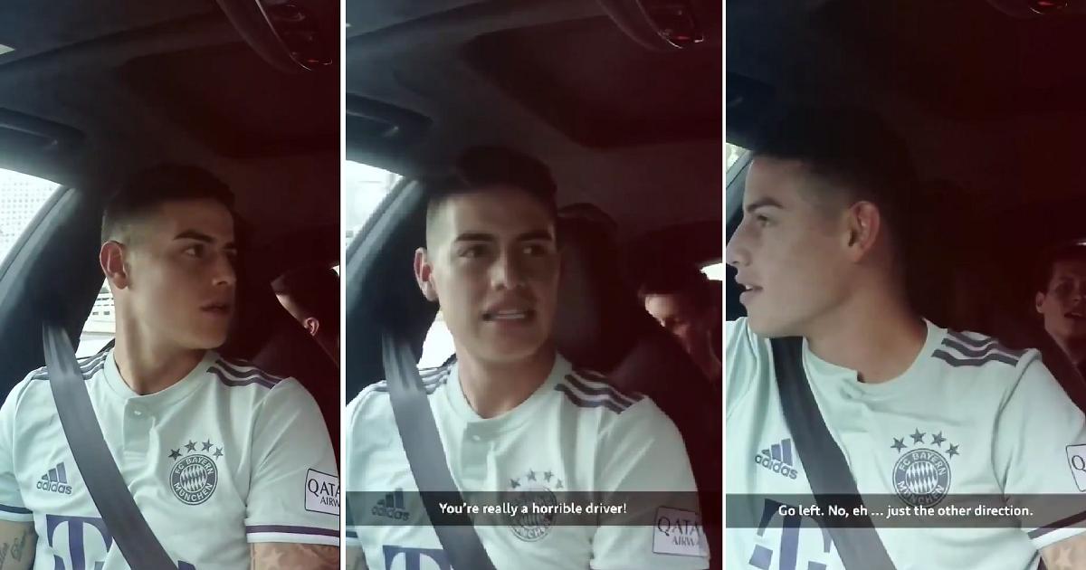 """""""Eres un verdadero desastre"""": James regaña a entrevistador por su manera de conducir"""
