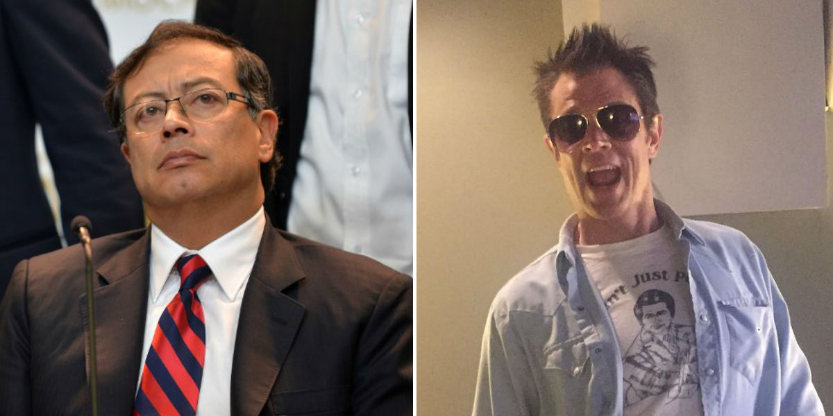 Johnny Knoxville gustavo petro foto