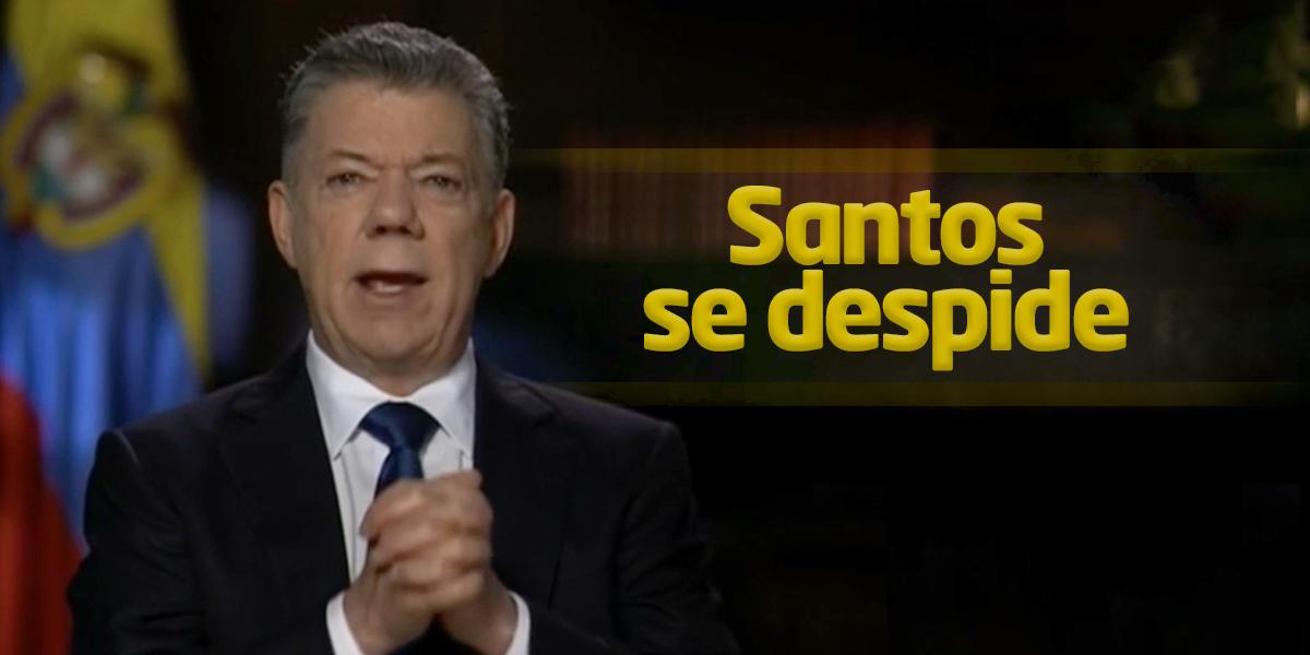'Me despido de la política, cumpliré con no molestar a mi sucesor': Santos