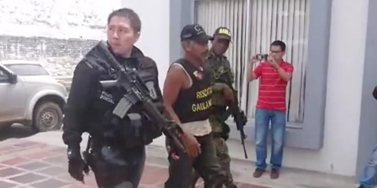 Cinematográfico  rescate de un secuestrado en el Cauca