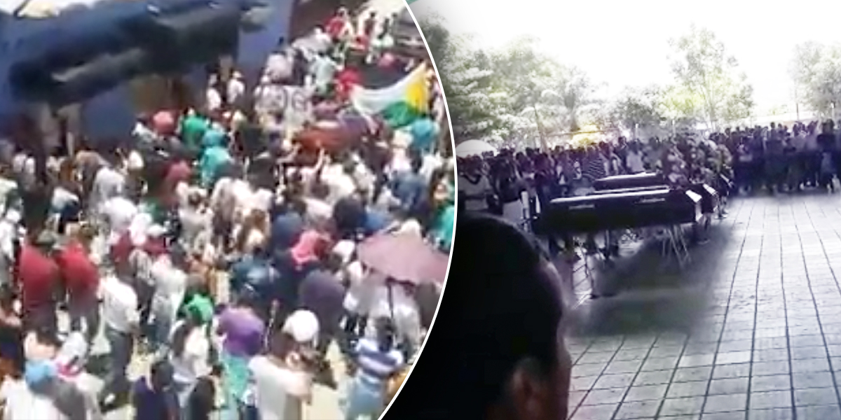 Multitudinaria marcha despide a seis de las víctimas de la masacre en El Tarra