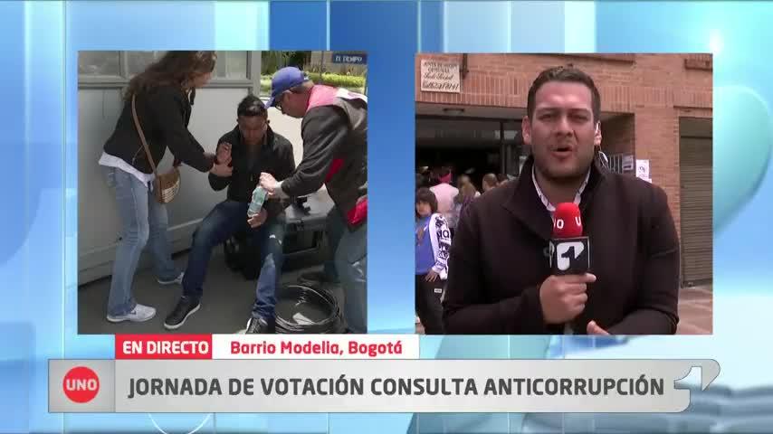 La jornada de votaciones cobra factura: periodista de Noticias Uno se desmayó en pleno directo
