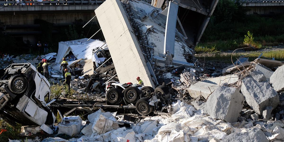 Estado de emergencia por 12 meses en Génova, tras colapso de puente