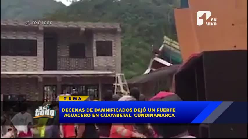 Decenas de damnificados por lluvias en Guayabetal, Cundinamarca