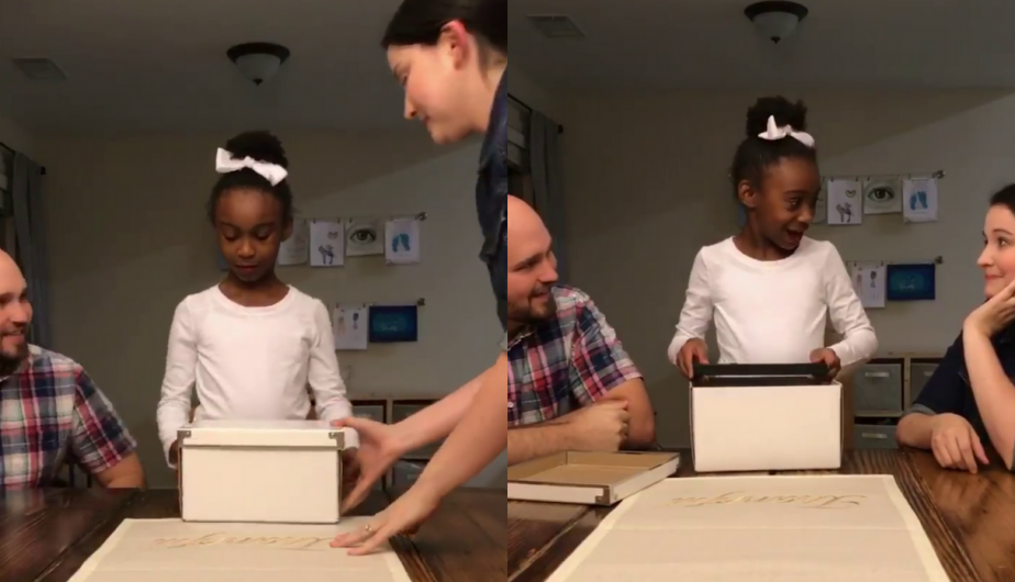 La conmovedora reacción de esta niña al enterarse que será adoptada