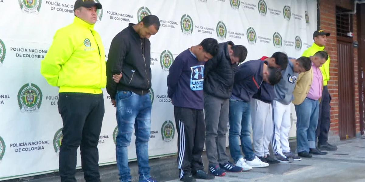 Caen otros siete integrantes de la banda 'Los Rolex' en Bogotá
