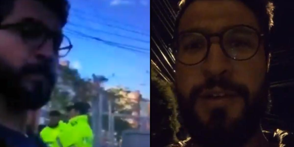 Video de un hombre insultando a un grupo de policías resultó siendo falso