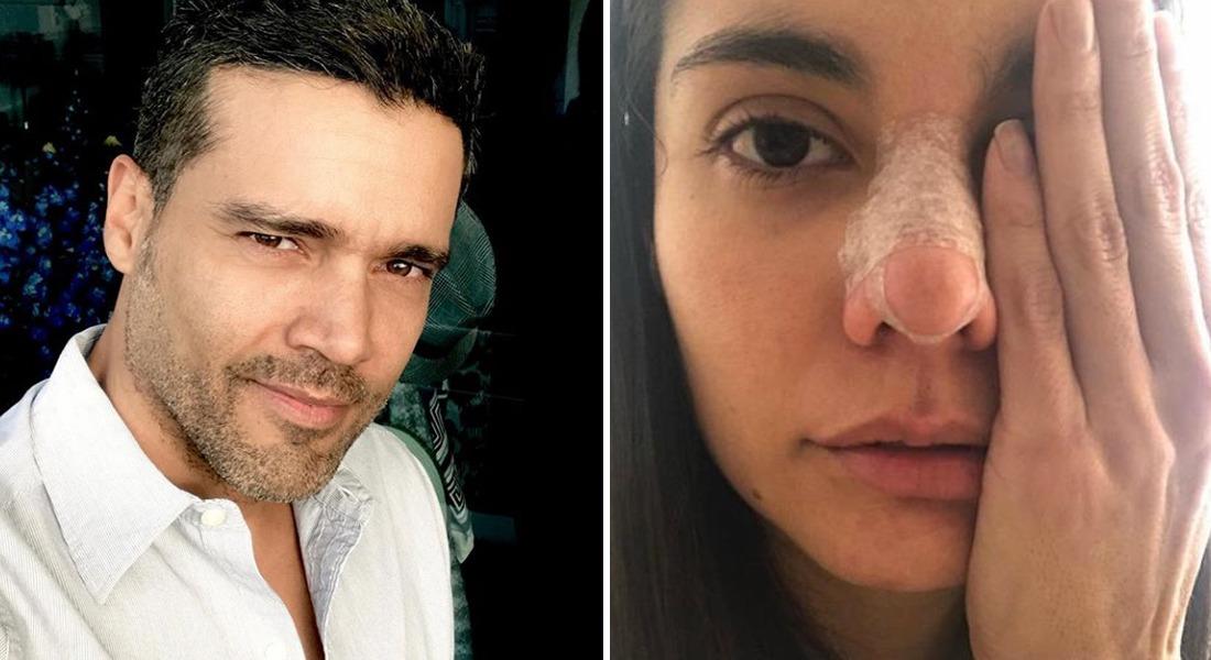 Exnovio de actriz golpeada publica video donde supuestamente es maltratado por ella