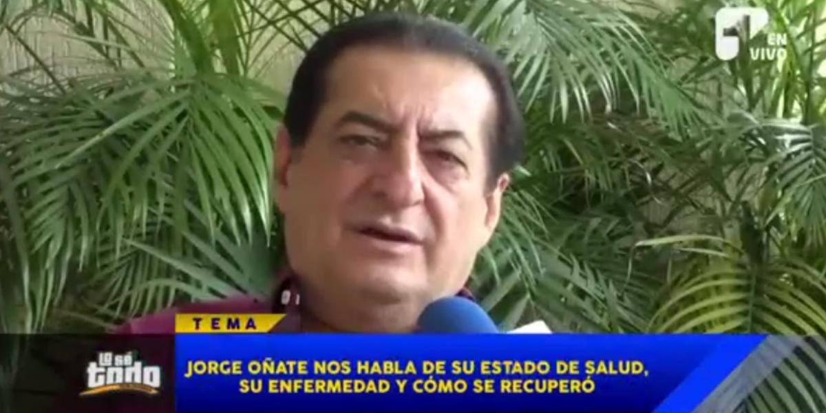 Jorge Oñate habla de su salud y del compromiso que tiene con Dios