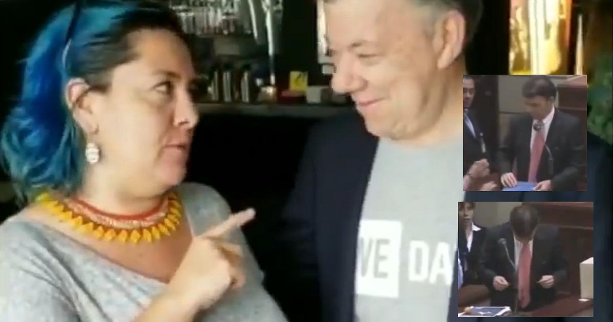 Mujer que le estrelló un huevo a Santos le pidió un reencuentro y así terminó