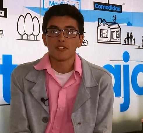 ÉL es José Gabriel, el joven autista que estará en el festival SmartFlims