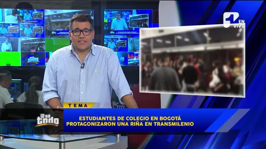 Estudiantes de colegio en Bogotá protagonizaron riña en plena estación de TransMilenio