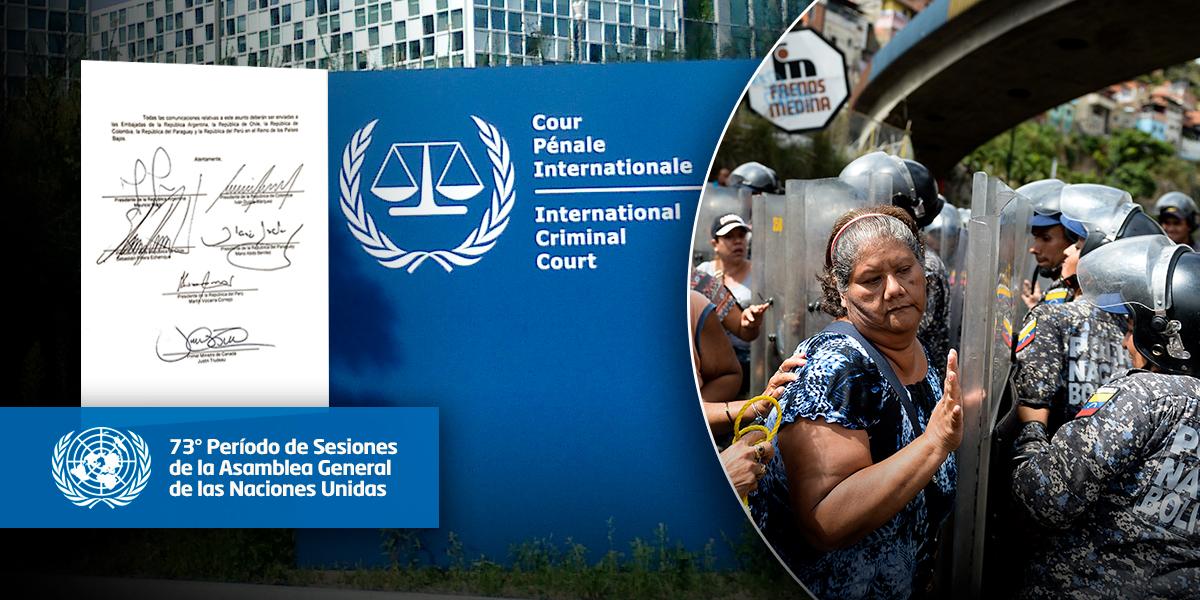 Seis países oficializan petición para que la CPI investigue a Venezuela