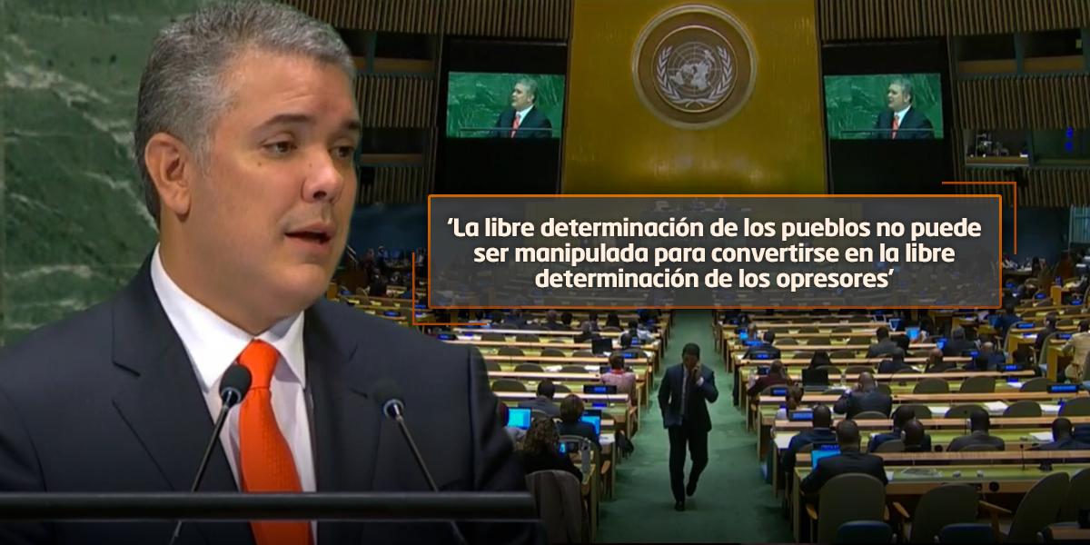 Ante la ONU, Duque se refirió a la crisis en Venezuela, el narcotráfico y la paz