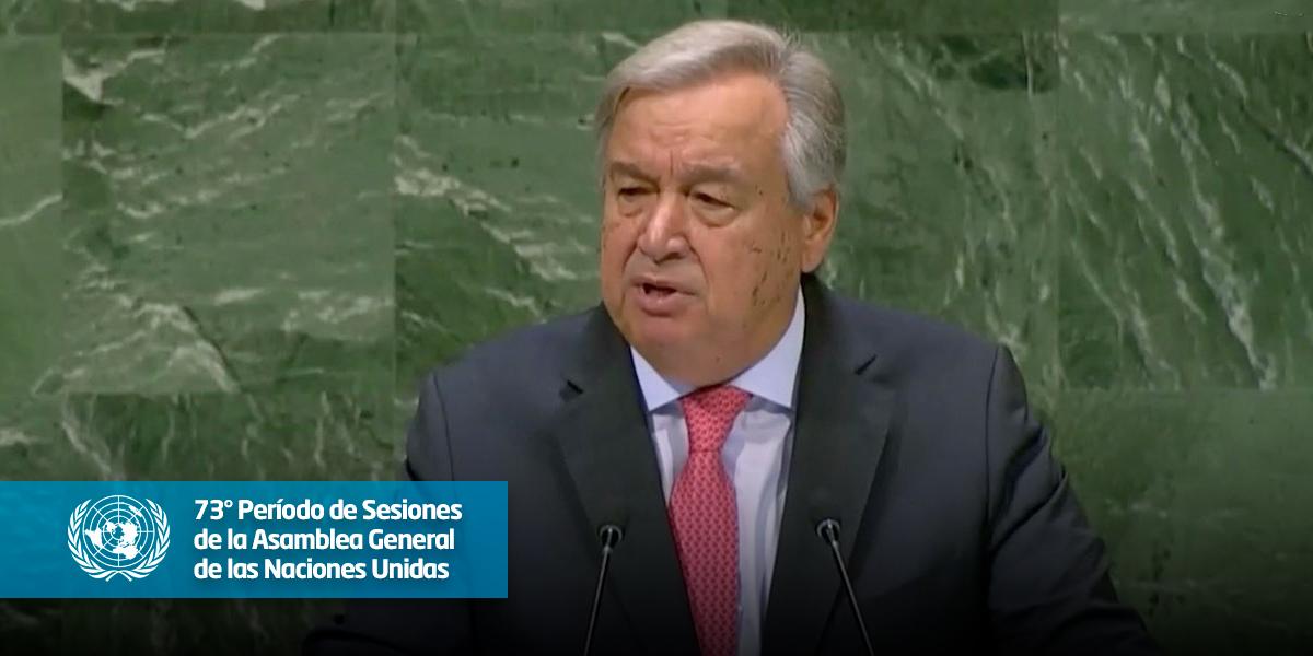 'Impresiona el fuerte compromiso del pueblo colombiano con la paz': António Guterres