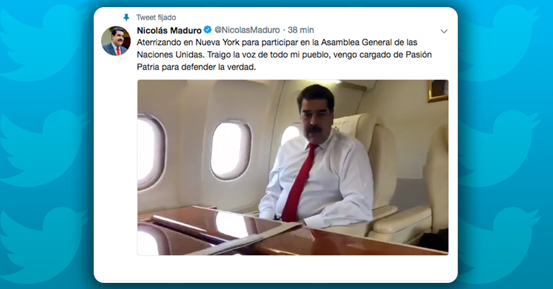 Llega el presidente Nicolás Maduro a la sede de las Naciones Unidas