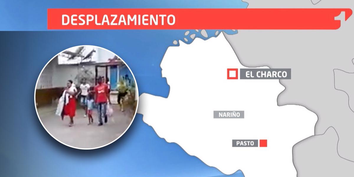 Cerca de 400 desplazados por fuertes enfrentamientos en Nariño