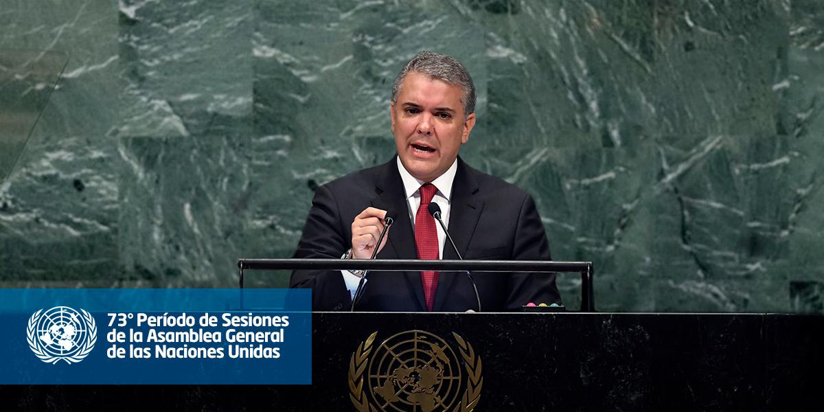 Vea aquí la intervención completa del Pdte. Duque ante la Asamblea General de la ONU