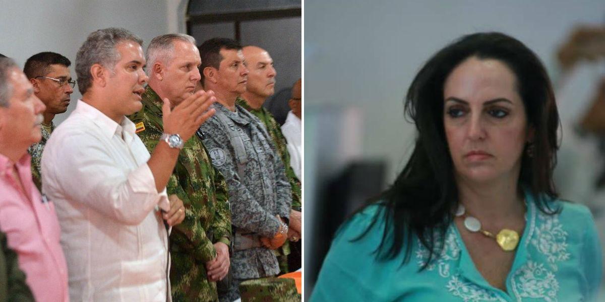 presidente ivan duque maria fernanda cabal fuerzas militares