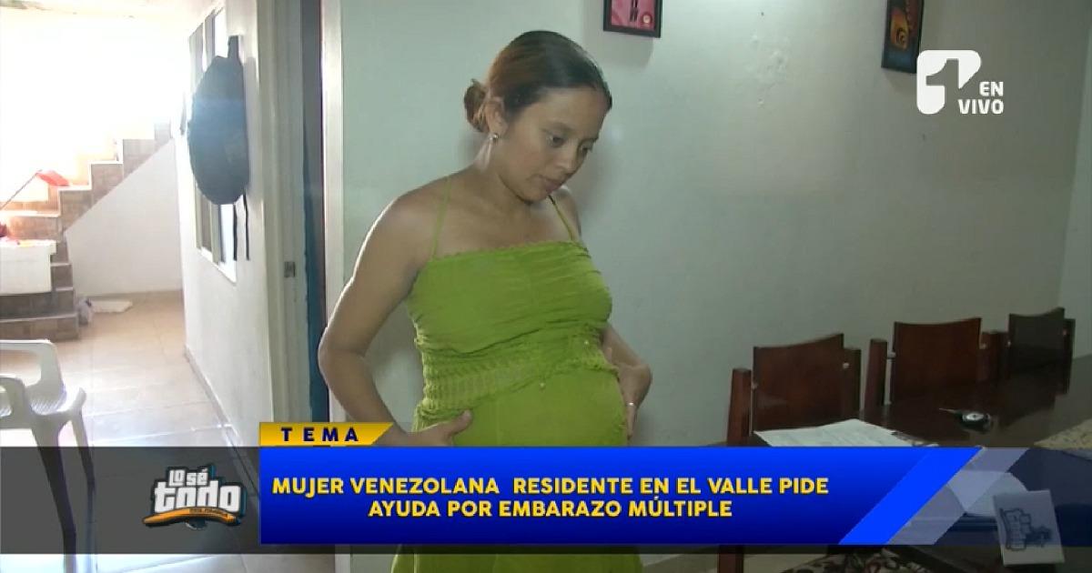Venezolana exiliada en Colombia, en grave crisis por embarazo quíntuple