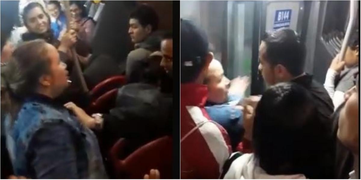 En plena hora pico, mujer 'mechonea' a la amante de su marido en TransMilenio