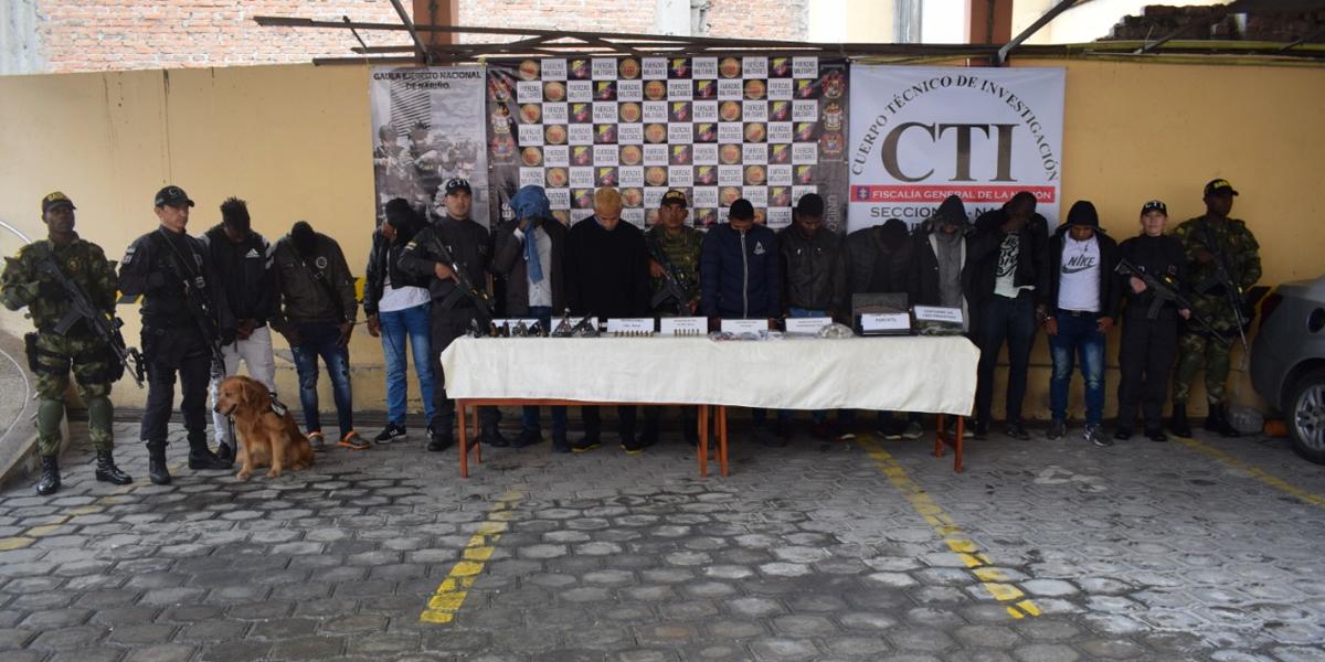 Desarticulan banda 'Los Santo' dedicada al secuestro y extorsión en Pasto