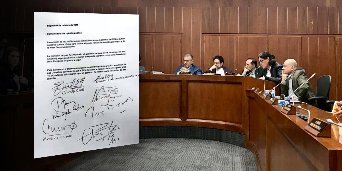 Tras duro debate, Comisión de Paz del Senado responde carta del ELN
