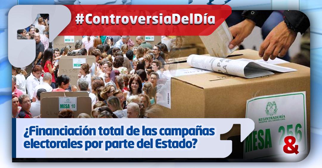 Comisión Primera del Senado aprueba financiación total del Estado a las campañas electorales
