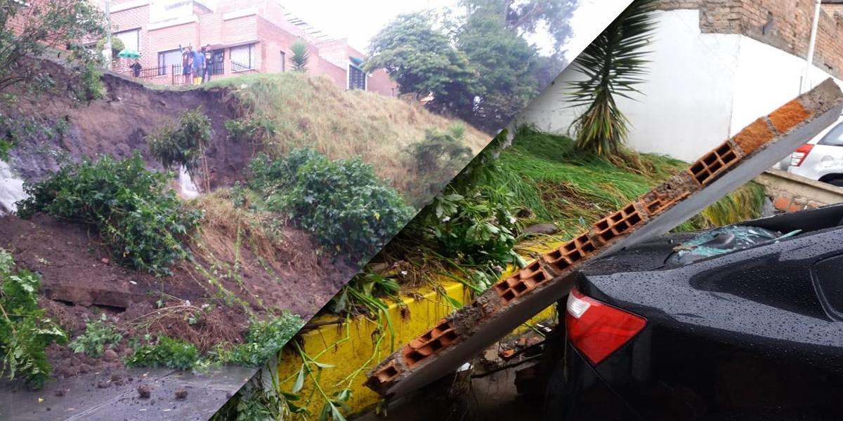 Lluvias en Pasto causan colapso de un muro y otras afectaciones