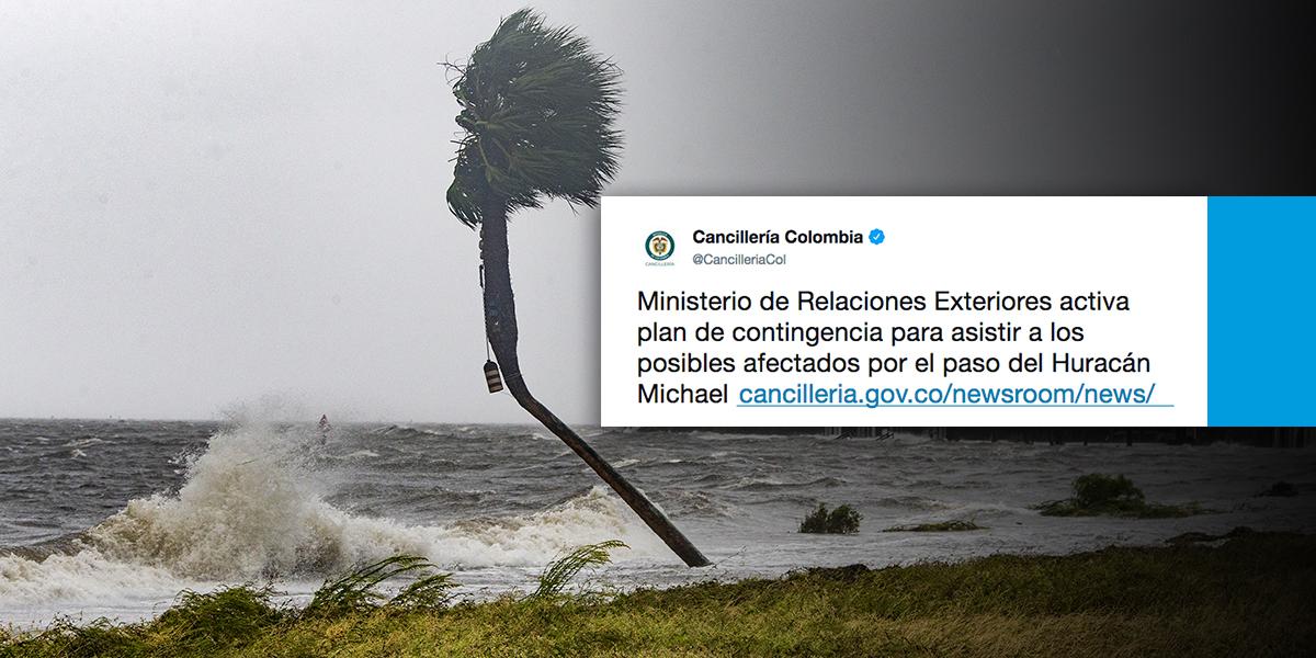 Gobierno activa plan de contingencia por huracán Michael en Estados Unidos