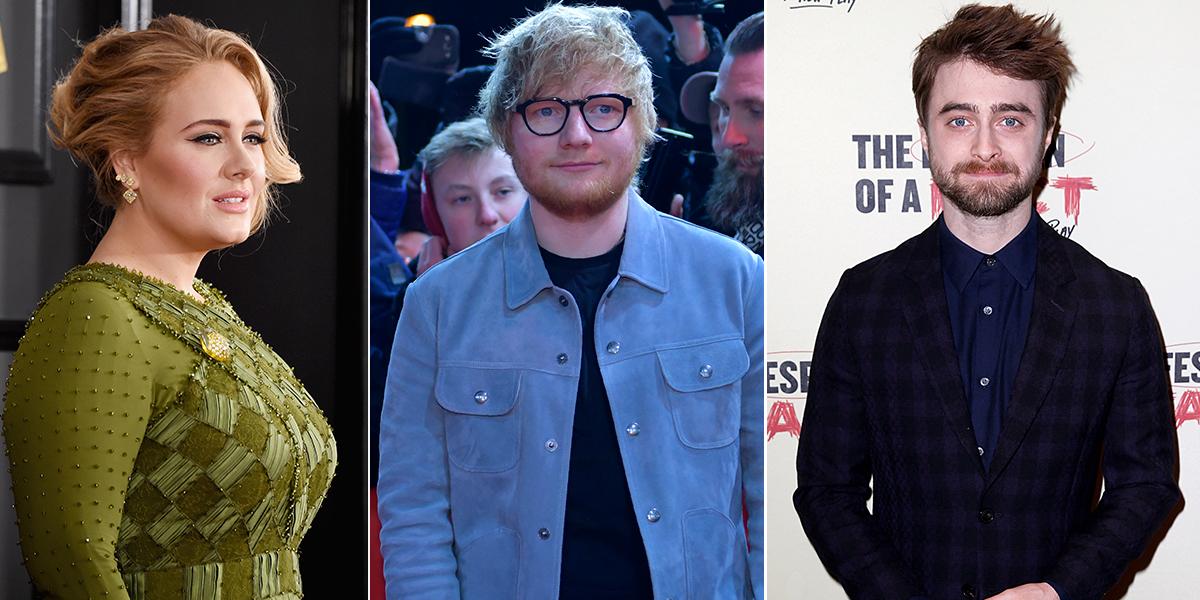 Adele, Ed Sheeran y Daniel Radcliffe, entre los jóvenes más ricos del Reino Unido