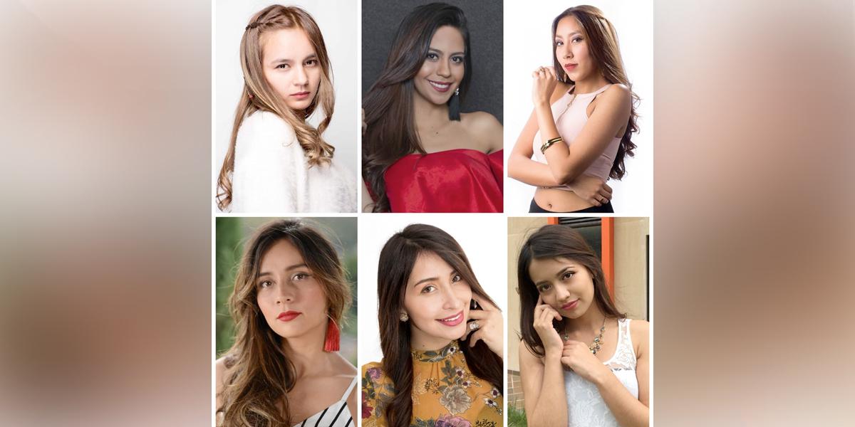 Seis candidatas tras la corona de soberana del Carnaval de Negros y Blancos 2019