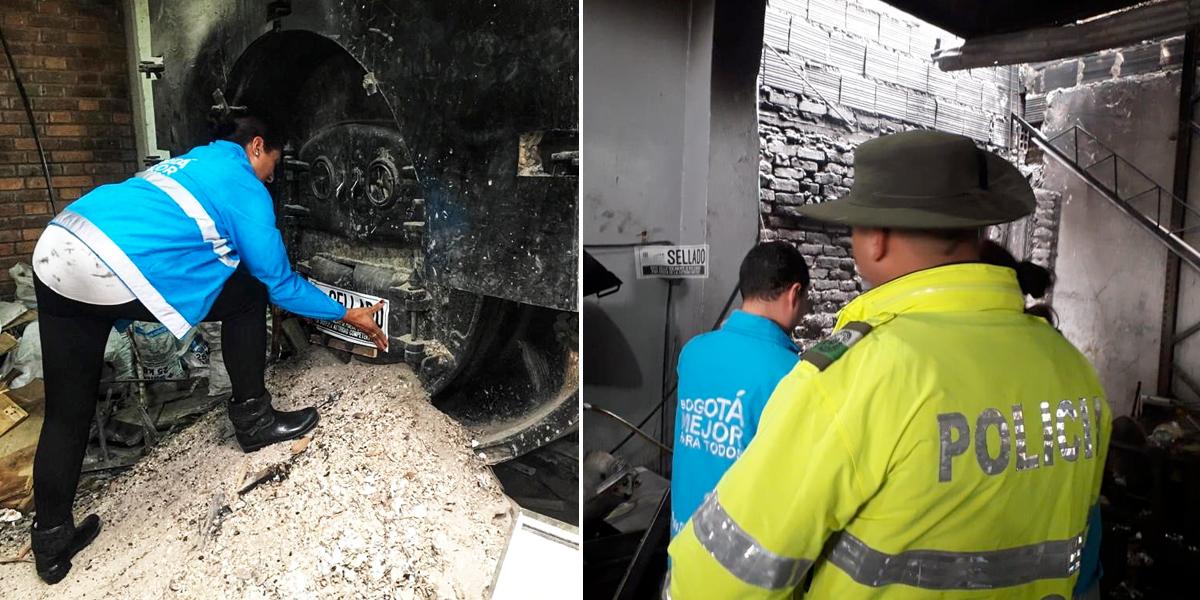 Sellan cuatro empresas por contaminar el aire en la localidad de Puente Aranda en Bogotá