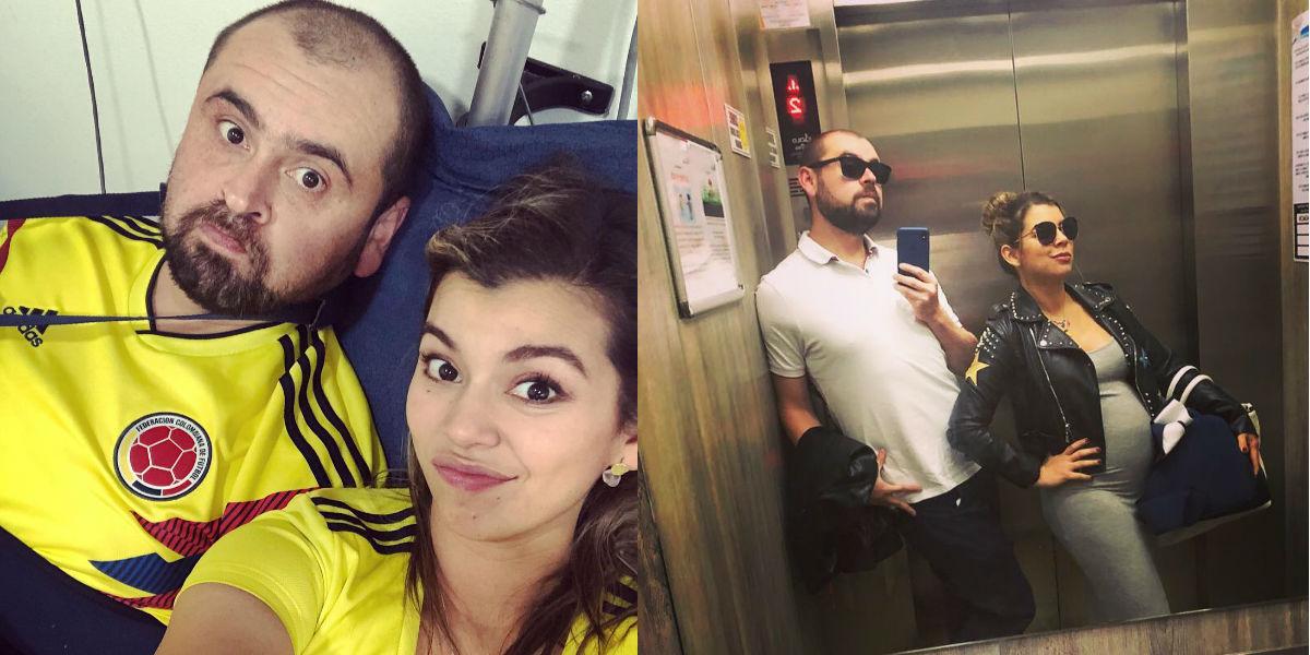 Los comediantes Liss Pereira y 'Cejas Pobladas' ya son padres y lo anunciaron con esta foto