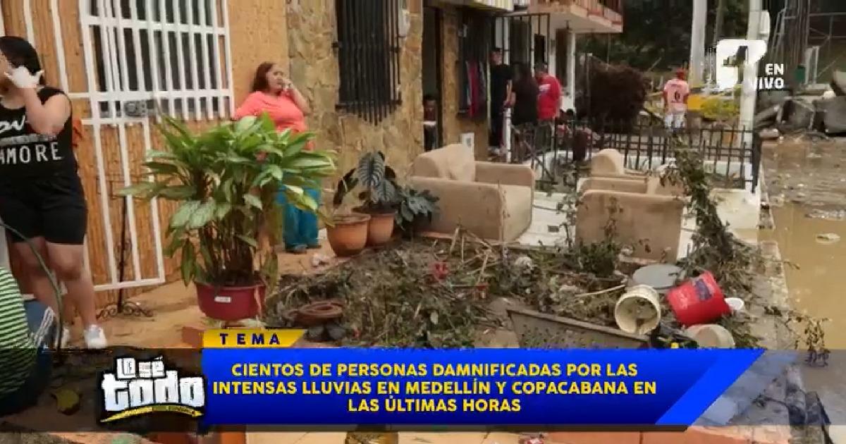 Damnificados cuentan angustiosos momentos por inundaciones en Copacabana, Antioquia