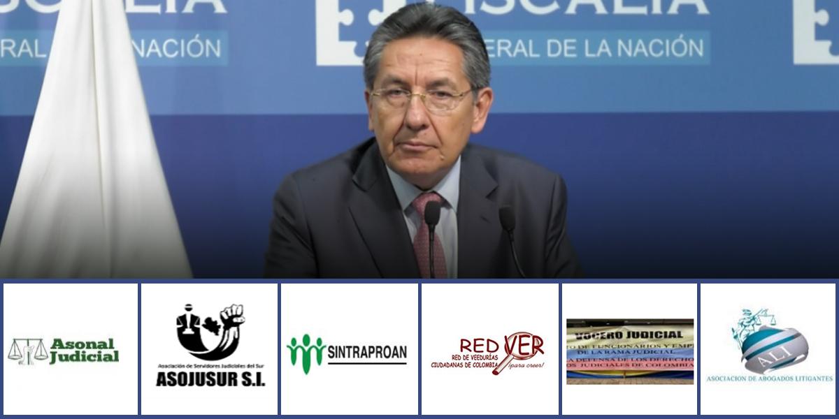 Sindicatos piden renuncia del fiscal general