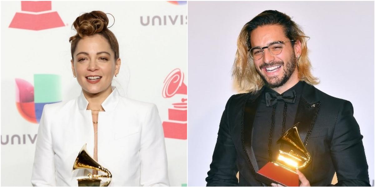 Natalia Lafourcade reveló por qué le hizo mala cara a Maluma en los Latin Grammy