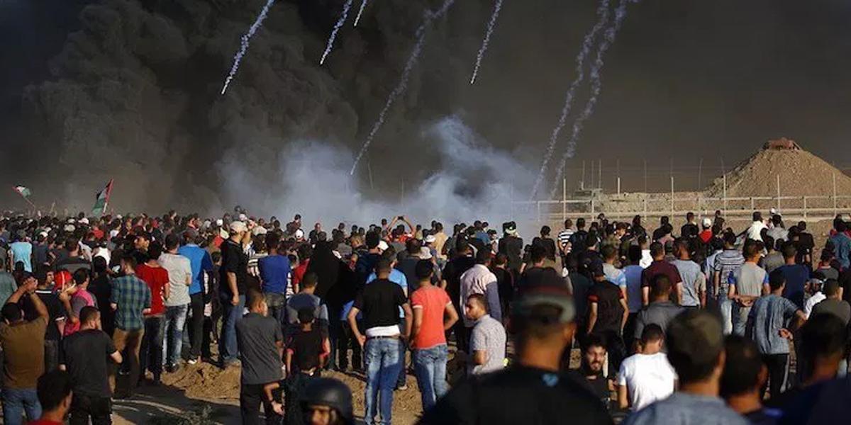 Continúan las protestas en la Franja de Gaza