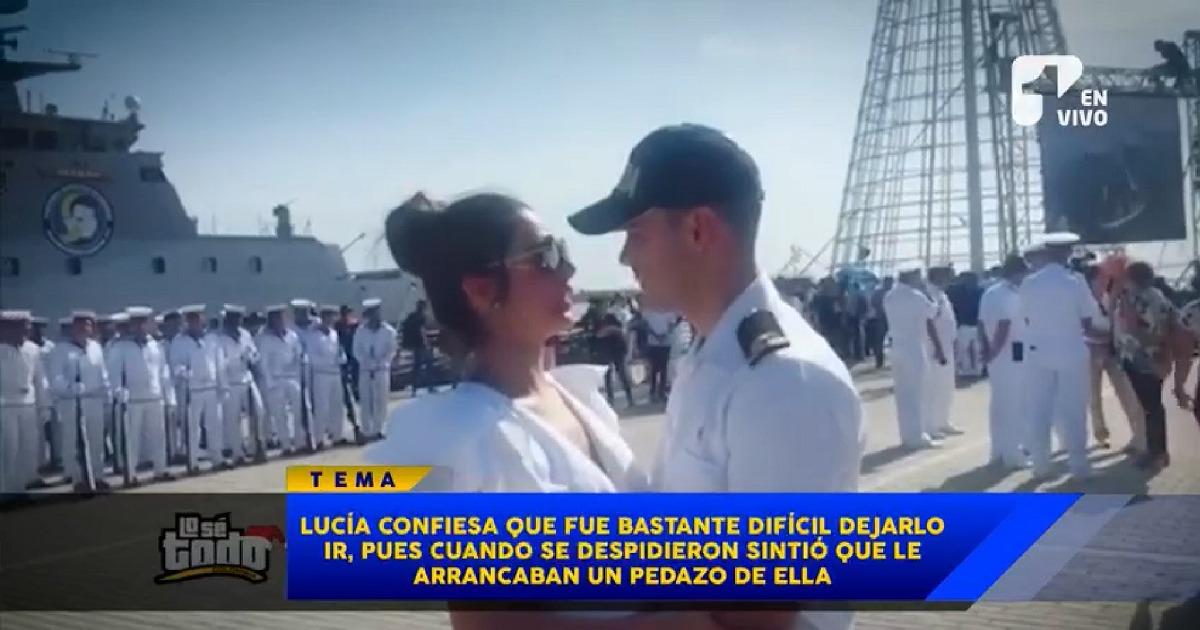 La dura despedida de Lucía Aldana a su esposo, el teniente Pedro Pallares