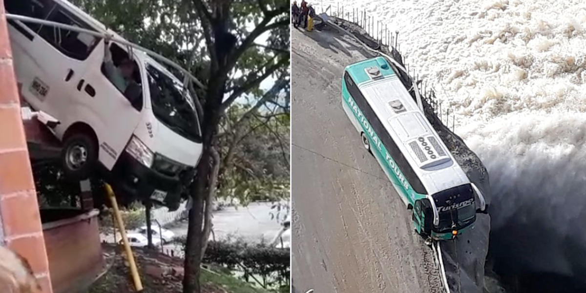 Dos dramáticos accidentes que por poco terminan en tragedia en Antioquia