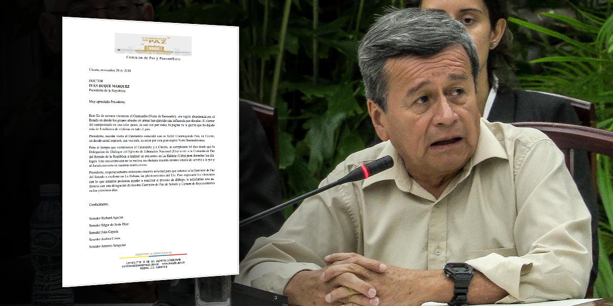 Miembros de Comisión de Paz del Congreso piden permiso a Duque para reunión con ELN
