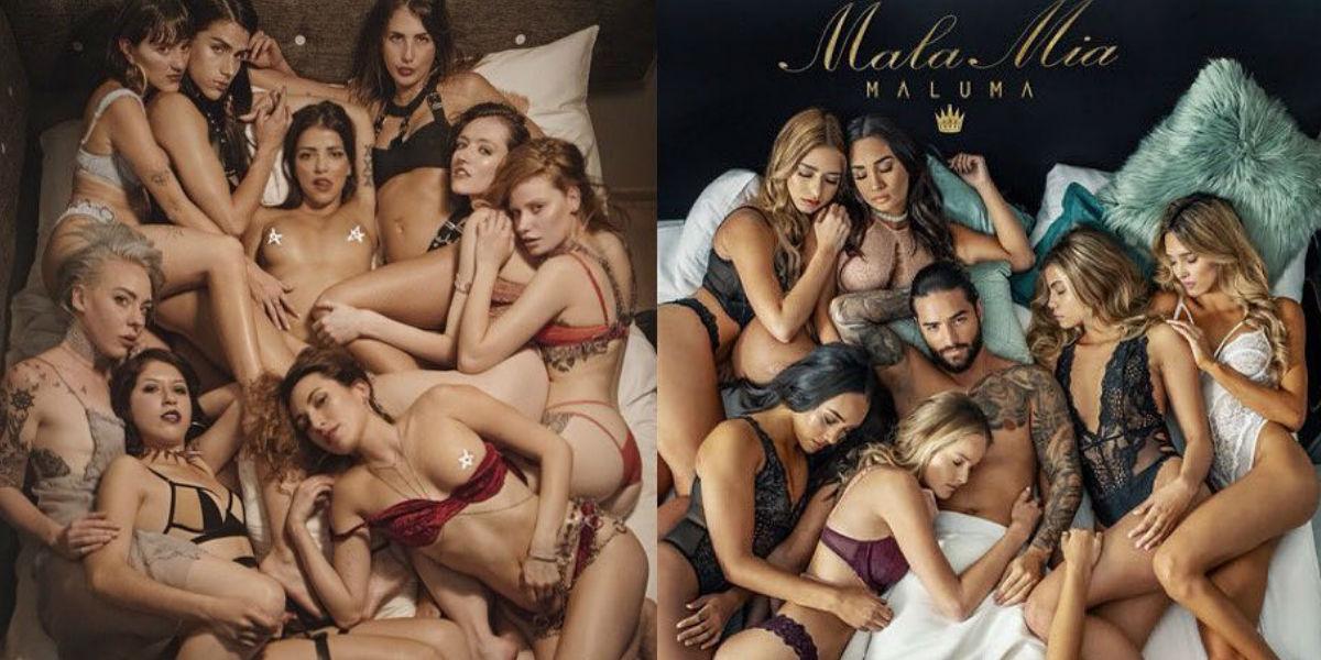 Feminista recrea foto de 'Mala mía' de Maluma como un mensaje de libertad sexual